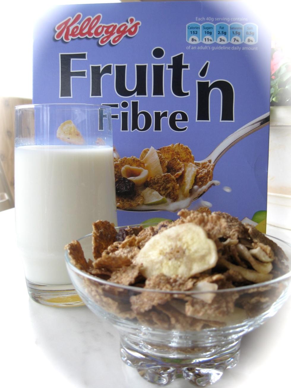 Fruit'n fiber kellogg's