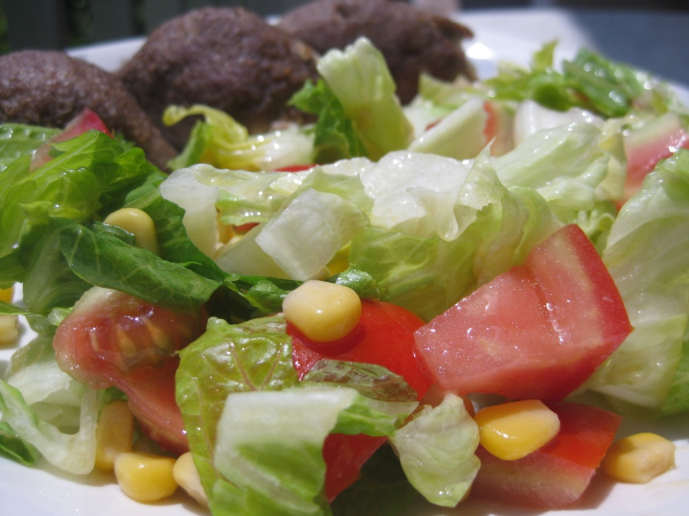 Kebbe and salad