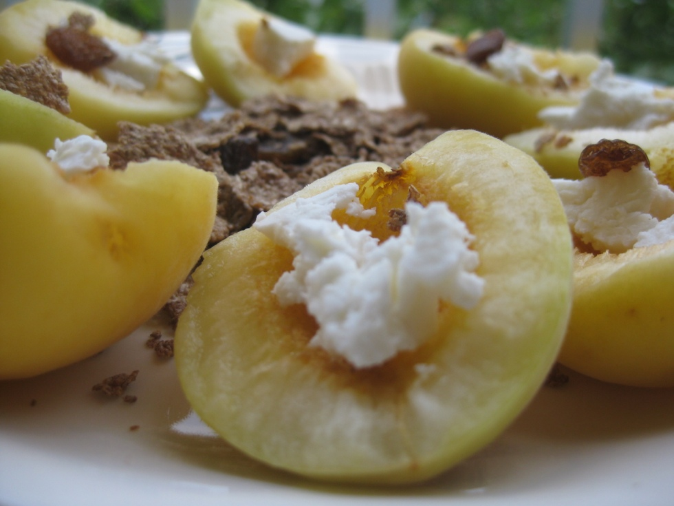 Apricots and cheese