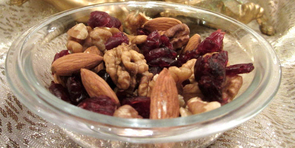 walnuts, cranberries and almonds