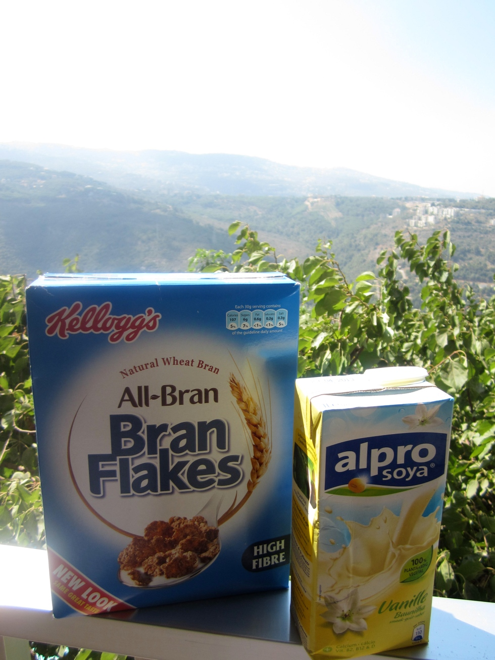 bran flakes and soy milk
