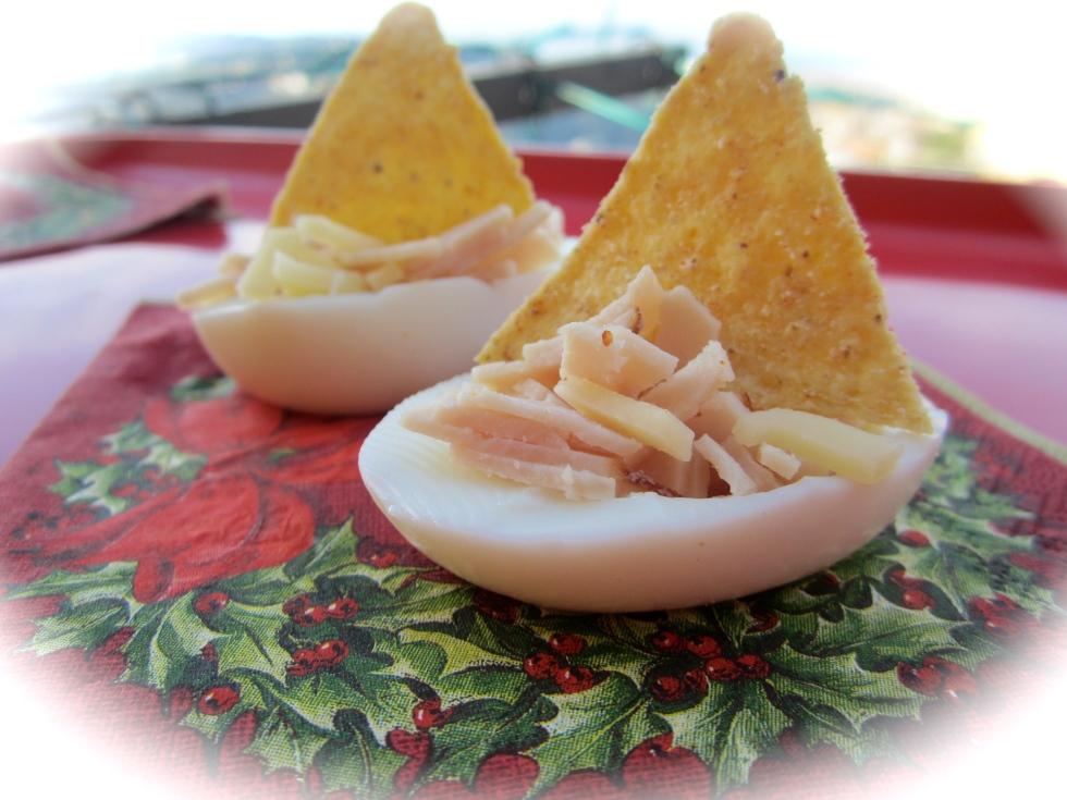 Egg whites boats