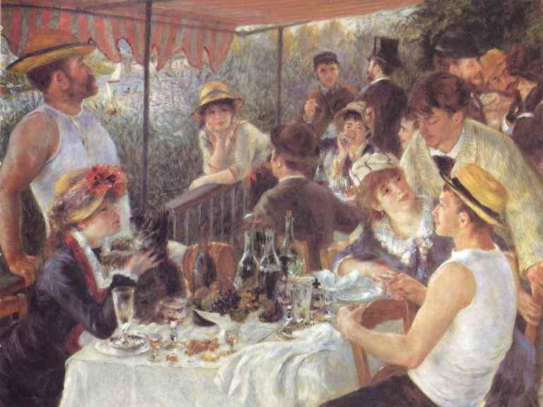 Renoir painting - Le dejeuner des canotiers