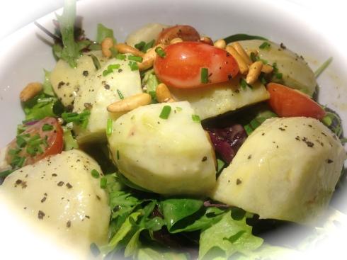 Organic artichoke salad