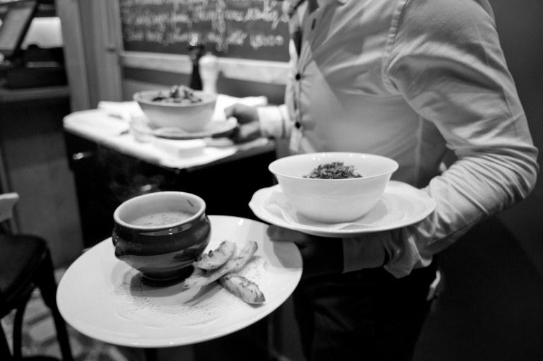 Delicious food at Le Petit Gris Restaurant